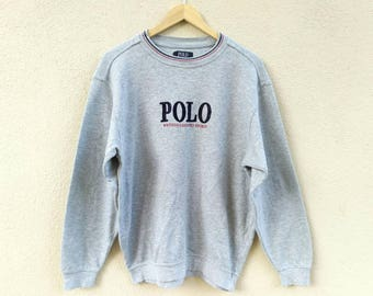 Vintage Polo British Country Spirit Sweatshirt embroider Logo