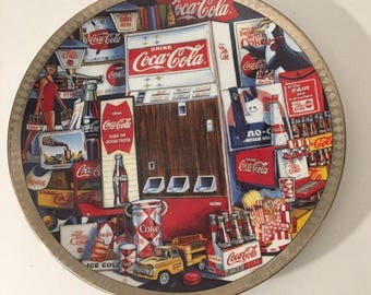 Authentic Vintage Coca Cola Numbered Edition Collectors Plate.
