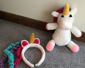 SPECIAL! Unicorn stuffed animal and headband!
