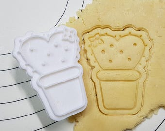 Cactus Heart Cookie Cutter and Stamp