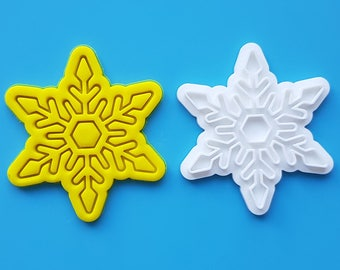 Snowflake 02  Cookie Cutter and Stamp