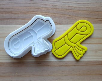 Diploma Cookie Cutter and Stamp