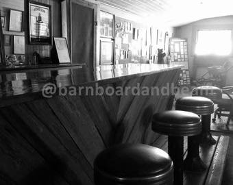 The Old Bar (Pactolus, NC) - Rustic Black & White