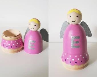 Tooth fairy peg doll /wooden fairy /Angel peg doll/fairy peg doll
