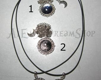 Cameos with silver Moonlight reflection