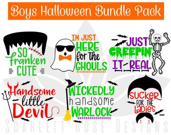 Halloween SVG cut file, Vampire, Frankenstein, Handsome Devil, Witch, Skeleton SVG for silhouette cameo and cricut