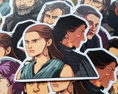 Star Wars The Force Awakens / The Last Jedi Pairs Vinyl Stickers