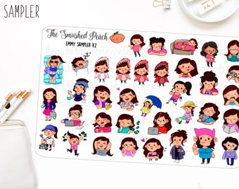 NEW Every Character Sampler - Hand Drawn Sticker Sheet