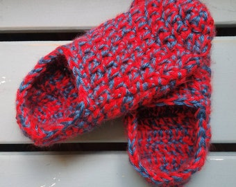 Children's Crochet Slippers-custom colors and sizes