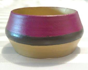 Tri-color dome bangle