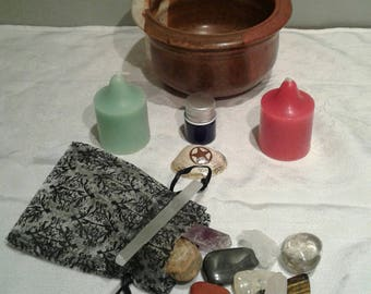 Nature Altar Set (With Black/Witches Salt)