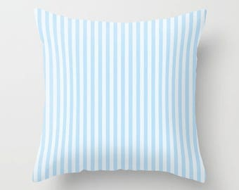 Blue stripe pillow Etsy