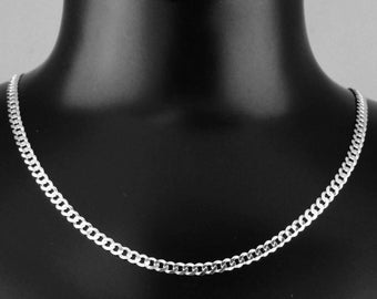 "925 Sterling Silver 20"" 4mm Curb Link Chain"
