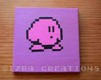 Pixel art Kirby painting