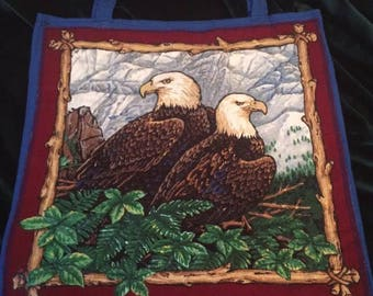 Eagles, totes with hand painted details