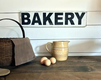 Farmhouse Bakery Sign  | Farmhouse Decor | Wood Signs | Bakery Sign | Fixer Upper | Primitive Sign | Rustic Sign