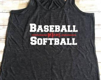 Baseball Softball Mom shirt,  softball baseball mom shirt, baseball mom shirt, Softball Mom shirt, game day shirt