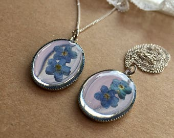 Forget Me Not Jewellery, Forget Me Not Necklace, Forget Me Not Pendant, Forget Me Not Gift