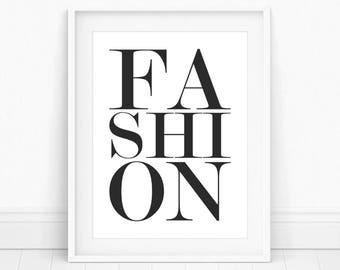 Fashion Poster - Fashion Print Wall Art, Fashion, Modern Home Decor, Fashion Wall Art, Printable Wall Art, Typography Print, Fashion Prints
