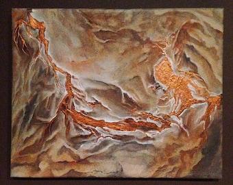 Satellite view landscape painting