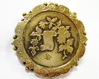 Victorian Brooch, Gold Over Sterling - 3050
