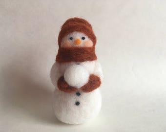 Needle felt snowman  Etsy
