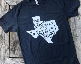 Texas Shirt - Cute Texas Tshirt - Deep in the Heart of Texas Tshirt - TX Tee - Texas Stars Shirt - Texas Gift - Adult Shirt - Gifts for Her