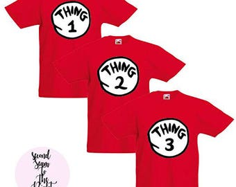 Thing 1 2 3 Group Universal Studios Matching Tshirts