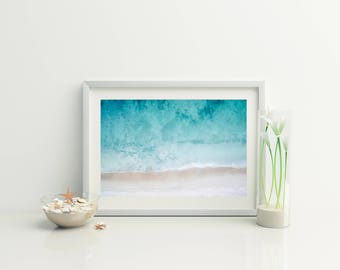 Beach Aerial Photo // Nordic Wall Print // Coastal wall print // Beach Photography // Ocean Photo // Ocean Aerial // Beach Photo // Bondi