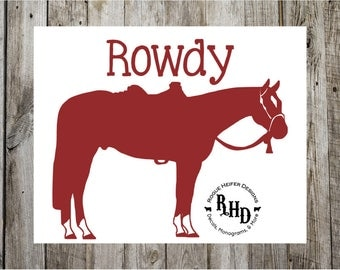 Quarter Horse Decal - Western Pleasure Decal - Custom Horse Name-  Trail Riding - Arabian - Cowgirl - Personalized - Rodeo - Barrel Racing