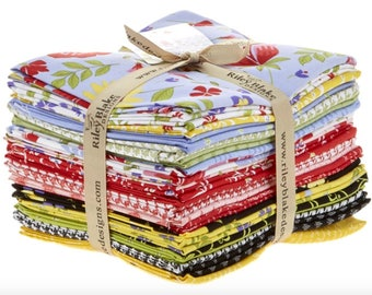 Penny Rose Designs Meadow Sweets Fat Quarter Bundle by Jill FInley for Riley Blake - 21 Pieces