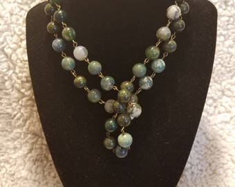 Earth Green Beaded Necklace