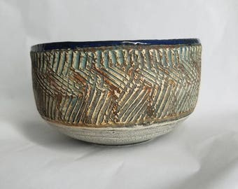Blue lined bowl