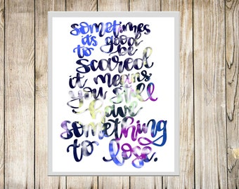 Grey's Anatomy - Digital Quote Download - Galaxy Theme Print