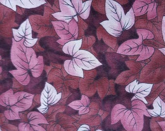 """Red leaves quilting fabric 60"""" x 42"""""""
