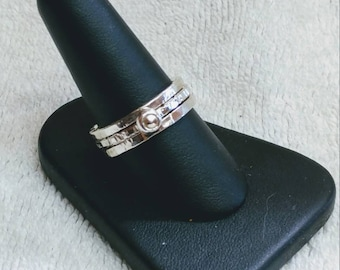 Sterling silver stacking rings set of three.