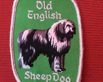 OLD English SHEEPDOG Dog PATCH Detailed Stitching L@@K Unique