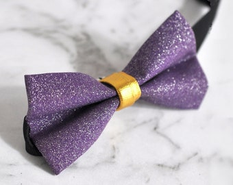 Kids Boys Faux Leather Shining Bowtie Bow Tie 1-6 Years Old Wedding Party Purple