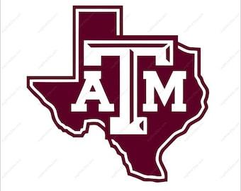 Texas Aggies Svg football party Svg Dxf Eps Png Ai Digital File design Print Mug Shirt Decal