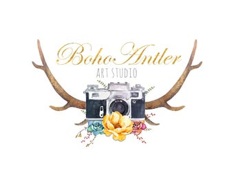 Custom Photography Logo, Boho Logo, Photographer Design Logo, Professional Logo Design, Bohemian Logo Design, Premium Logo, Couture Logo