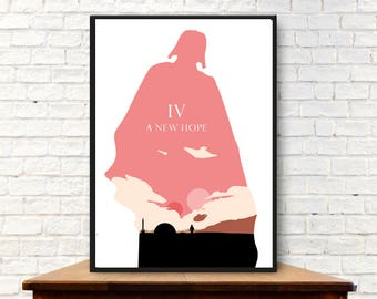Episode IV A New Hope Poster A New Hope Poster Minimalist A New Hope Print A New Hope Wall Art A New Hope Art A New Hope Gift
