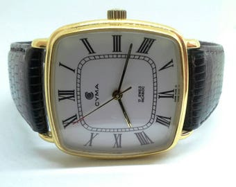 Vintage watch Cyma Le-Lolce manual winding, Swiss Made
