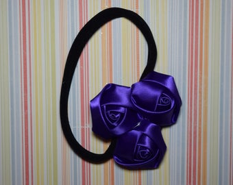 One size nylon headband - purple