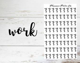 Script Planner Stickers // Work