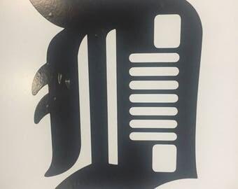 Old english D vinyl sticker
