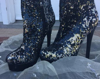 Sequin Chinese Laundry High Heel Boots