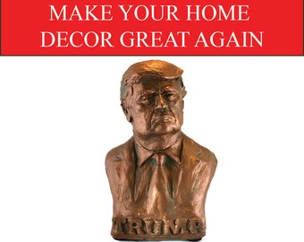 Limited Edition President Donald Trump Bust Sculpture