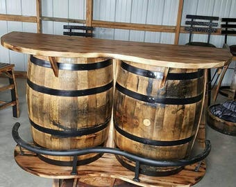 Whiskey Barrel Footrest Fits Any Standard 53 Gallon Whiskey