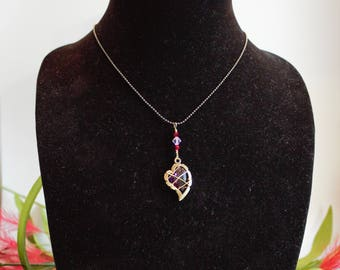 Antique Brass Wire Wrapped Heart