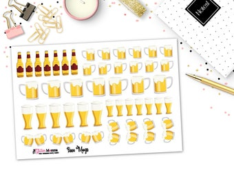 Beer Mugs   Icons   Planner Stickers   Functional Stickers